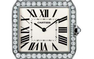 The well-designed replica Santos De Cartier Santos-DumontWH100651 watches have silver-plated dials.