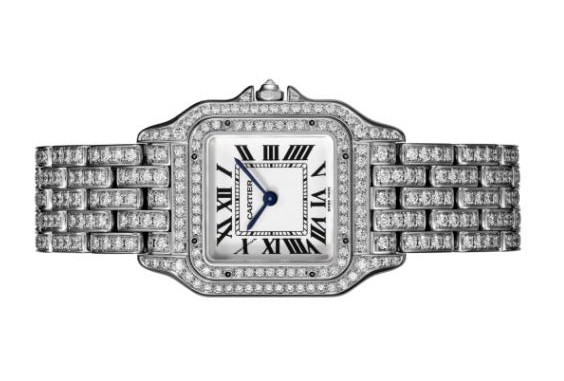 The amazing copy Panthère De Cartier HPI01130 watches are decorated with 415 diamonds.