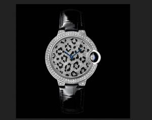 The luxury fake Ballon Bleu De Cartier HPI01064 watches are made from 18k white gold and diamonds.