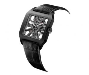 The sturdy copy Santos De Cartier Santos-Dumont W2020052 watches are made from titanium.