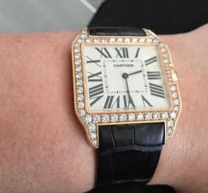 The 18k rose gold fake watches are made from diamonds.