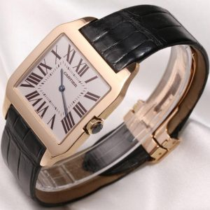 The 18k rose gold fake watches have silver-plated dials.