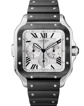 The black Roman numerals hour markers and hands ensure the ultimate legibility.